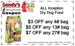 inception dry dog 11-20