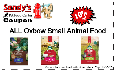 Oxbow Food Coupon