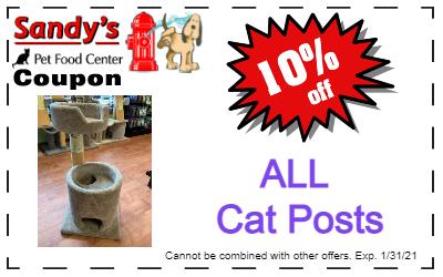 Cat posts Coupon