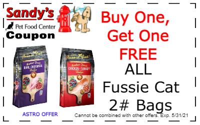 Fussie cat 2lb coupon