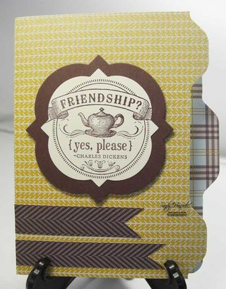 File Folder Triple Tab Card with Sweater Weather Designer Paper