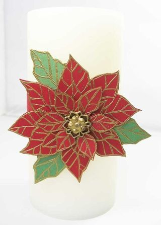 PoinsettiaCandle