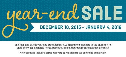A Year End Holiday Sale