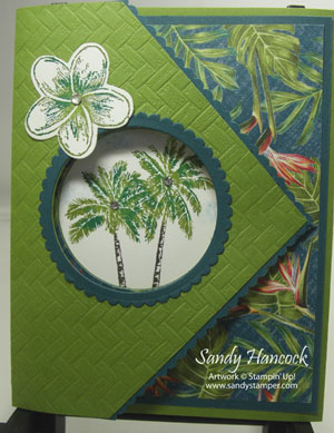 Tropical Oasis Tri-Fold Card with You Tube Videos