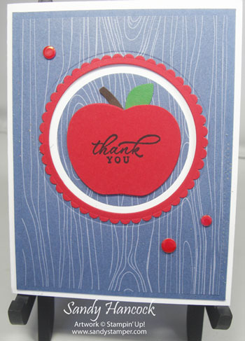 Apple Builder Punch Z Card with tutorial