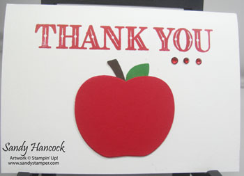 Apple Builder Punch Thank You and Gift Card