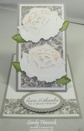 Prized Peony Easel Card with Video