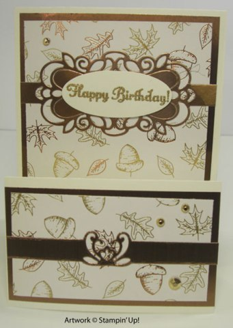 Gilded Autumn, Detailed Bands Fall Card