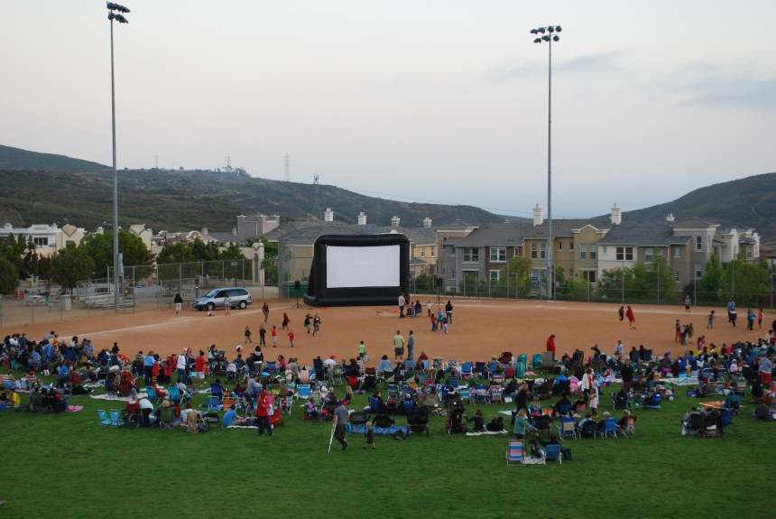 Movie in San Elijo Hills Park