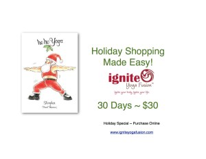 Ignite Yoga Fusion Holiday Shopping