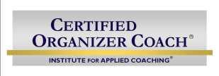 Certified Organizer Coach Cena Block Sane Spaces ADHD Certified Coach