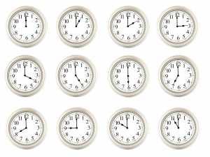 Time saving, clocks, time management