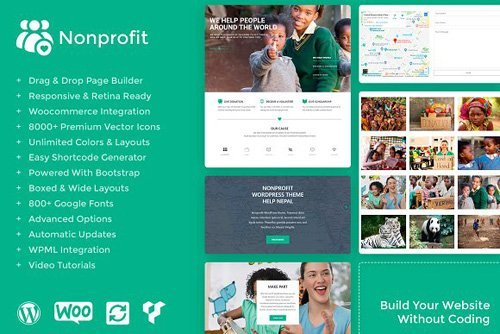 Nonprofit v1.0.0 - WordPress Theme - CM 2549356