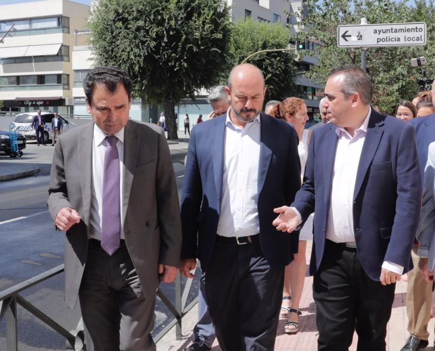 Rollán visita las actuaciones ejecutadas a cargo del Plan Regional