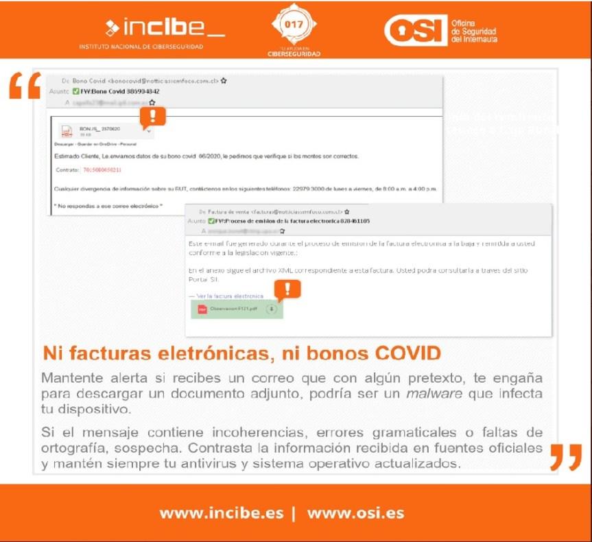 La OSI alerta de un fraude relacionado con la COVID