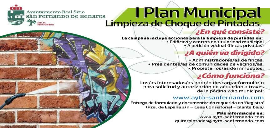 'Plan Municipal de Limpieza de Choque de Pintadas'