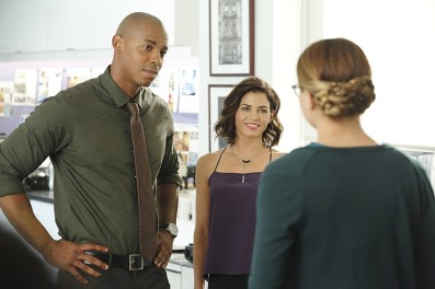 """Fight or Flight"" -- Supergirl's powers are tested when Reactron, one of Superman's formidable enemies, arrives in National City and targets the young hero, on SUPERGIRL, Monday, Nov. 9 (8:00-9:00 PM, ET/PT) on the CBS Television Network. Pictured left to right: Mehcad Brooks, Jenna Dewan-Tatum and Melissa Benoist Photo: Trae Patton/CBS ©2015 CBS Broadcasting, Inc. All Rights Reserved"