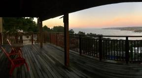 Our 1st floor View Deck in front of our Sunset + Sunrise Bedrooms with SF Vu's