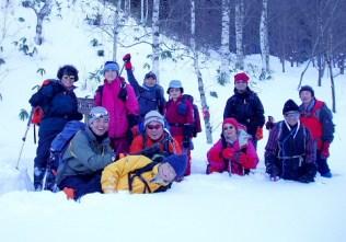 登山口で再び記念撮影。