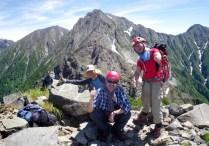 58.赤石岳山頂。P1と表示されている。
