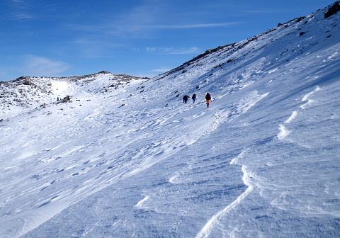 2009.12.29 御嶽山雪上訓練