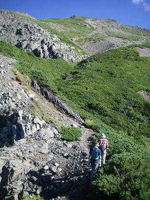 13 小聖岳から、聖岳へ