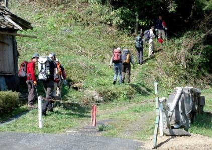 八谷の登山口