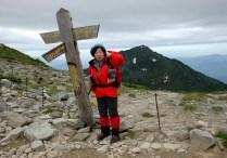 極楽平にて三ノ沢岳を望む。