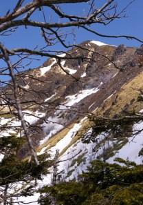 白谷山頂から焼岳