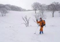 広々とした雪原。
