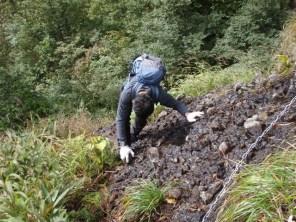 10‐脆い岩の登り