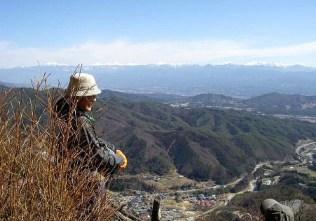 網掛山山頂にて…