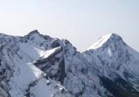 横岳と赤岳