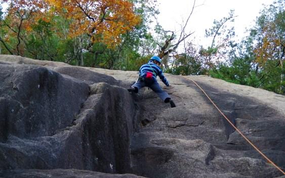 2010年11月21日 南山(豊田市)クライミング訓練