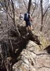 ⑫尾根コースの降りも痩せ尾根の急下降で気を抜く暇が無く登りよりハードかも。。。