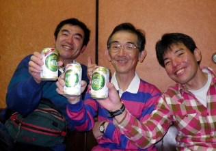 50 月川温泉で祝杯。