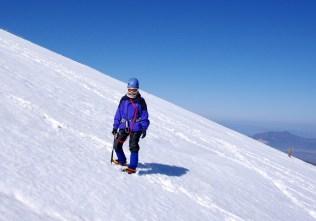 27 雪面トラバースも練習。