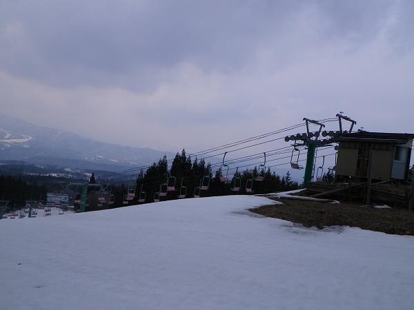 12.スキー場上端(誰もいない、独り占め)