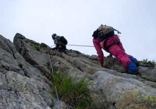 3ピッチ目も余裕の登攀。