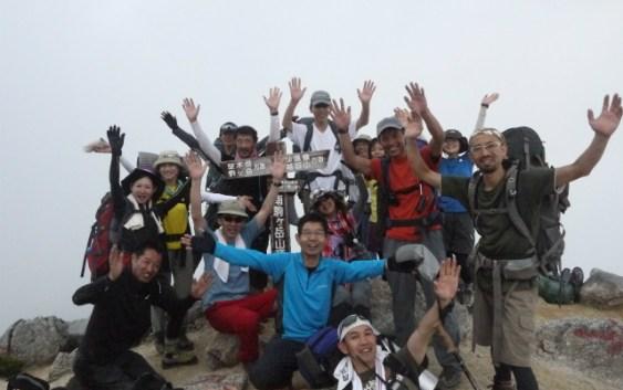 2012年8月25日(土)26日(日)夏山合宿・越百山~空木岳縦走