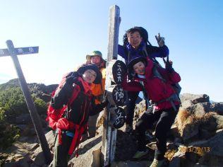 4つ目のピーク 横岳