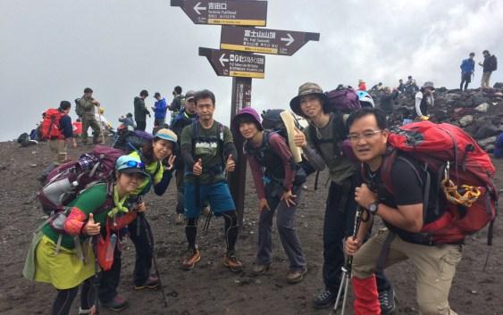 0合目から登る富士山(3776m)
