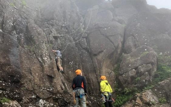 三ツ峠(1,785m) 屏風岩