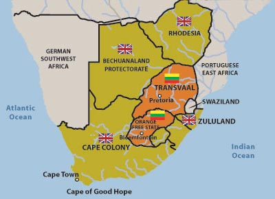 Image result for map of anglo boer war