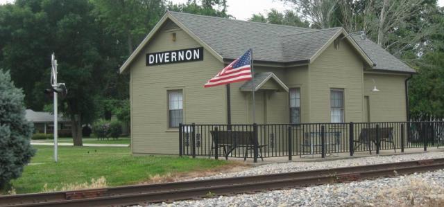 The restored Divernon train depot (SCHS photo)