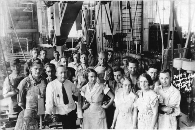 Sangamo Electric Department 9 employees, 1932