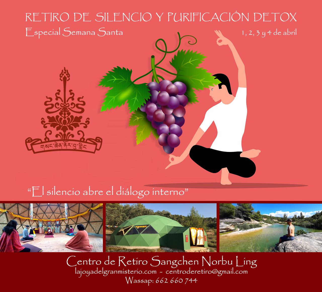 RETIRO DE SILENCIO Y PURIFICACIÓN DETOX, ESPECIAL SEMANA SANTA, 1 al 4 de ABRIL @ Centro de retiros Sangchen Norbu Ling