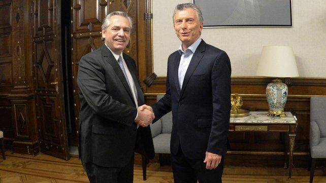 Alberto Fernández y Mauricio Macri dieron inicio a la transición en Casa Rosada