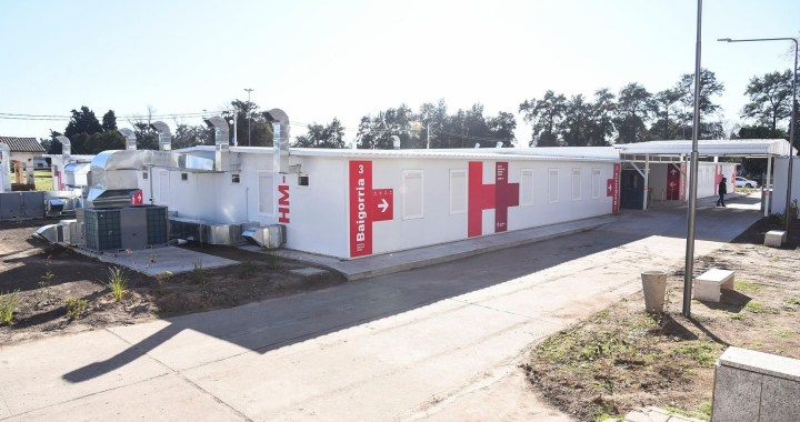 Perotti inauguró el nuevo Hospital Modular de Baigorria