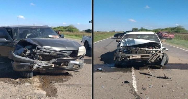 Dos camionetas chocaron de frente en Ruta 65 entre San Genaro y Diaz: uno de los conductores tenía 13 años
